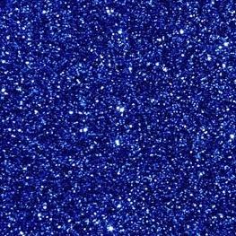 Feuille Flock 30cm x 20cm Couleur Bleu Roi Pailleté #FF156#