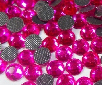 1000 Strass thermocollant SS10 couleur Rose Intense