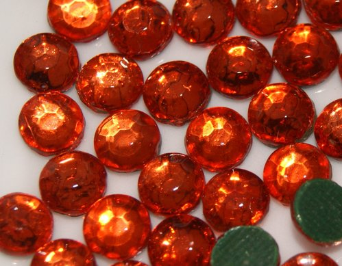 1000 Strass thermocollant SS10 couleur Orange