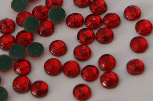 1000 Strass thermocollant SS10 couleur Rouge