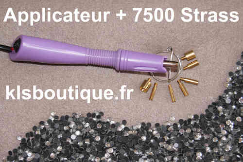 Applicateur à Strass Violet  + 7500 Strass Thermocollant (Hotfix)