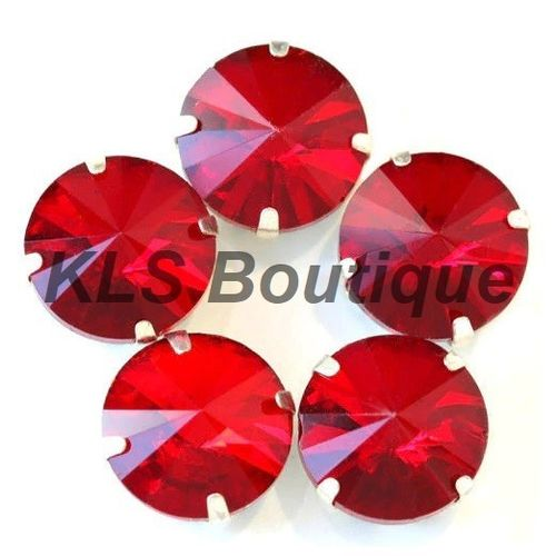 5 Strass à Coudre 16 mm Rouge