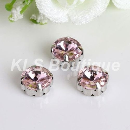 10 Strass à Coudre 10 mm Rose